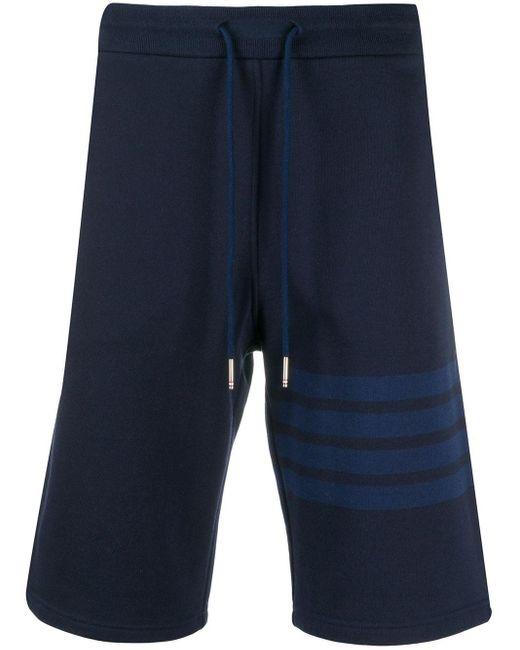 Спортивные Шорты С Полосками 4-bar Thom Browne для него, цвет: Blue