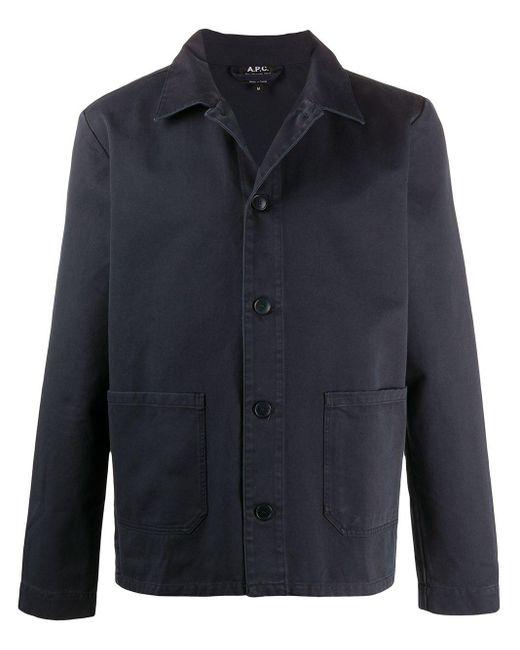 メンズ A.P.C. シャツジャケット Blue
