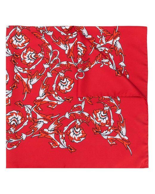 ESCADA フローラル スカーフ Red