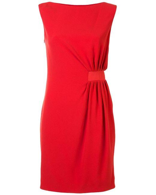 Paule Ka ノースリーブ ドレス Red