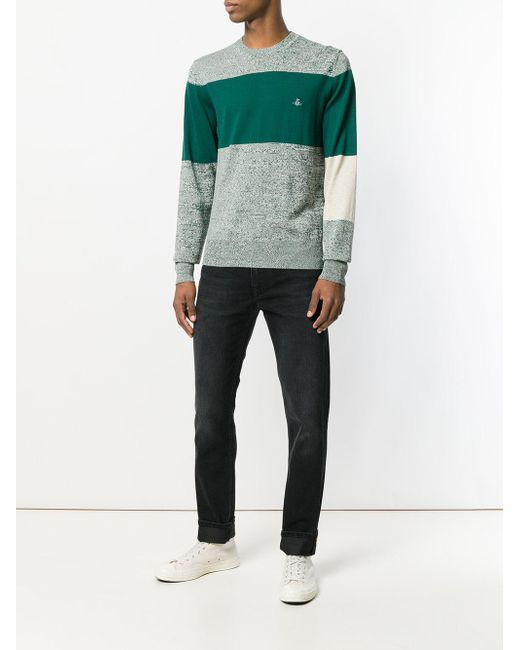af3bc21e84afa Vivienne Westwood Paneled Sweater in Green for Men - Save 45% - Lyst