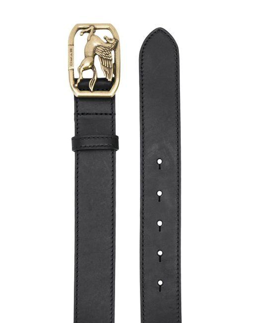 Cinturón con hebilla con logo Etro de color Black