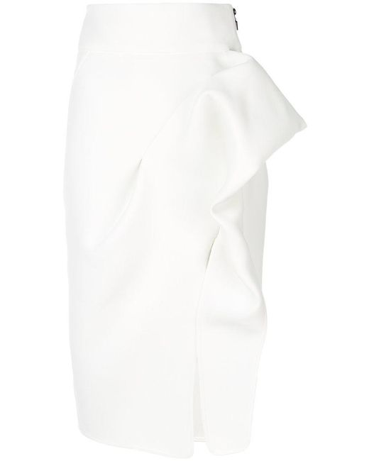 Maticevski - White Structured Pencil Skirt - Lyst