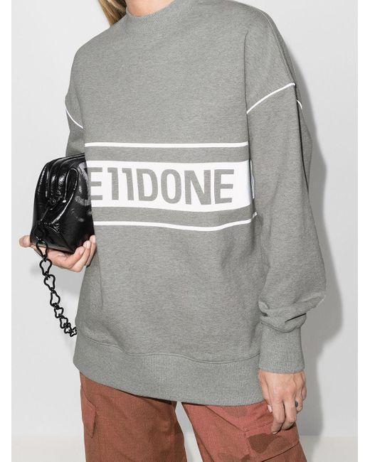 we11done ロゴ スウェットシャツ Gray