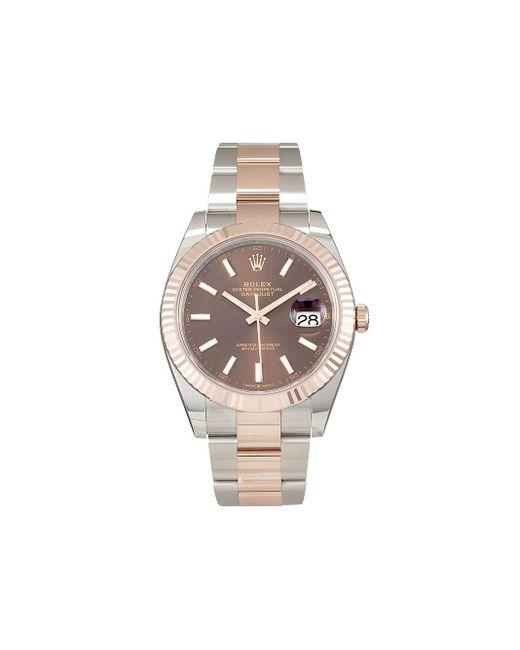 Наручные Часы Oyster Perpetual Datejust Pre-owned 41 Мм Rolex для него, цвет: Brown