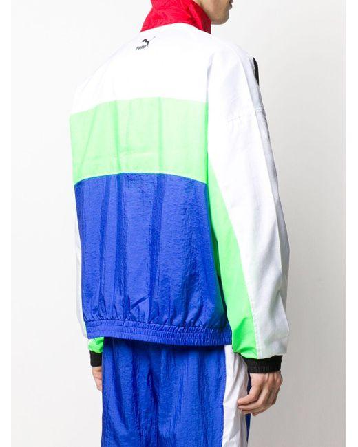 メンズ PUMA カラーブロック トラックジャケット Blue