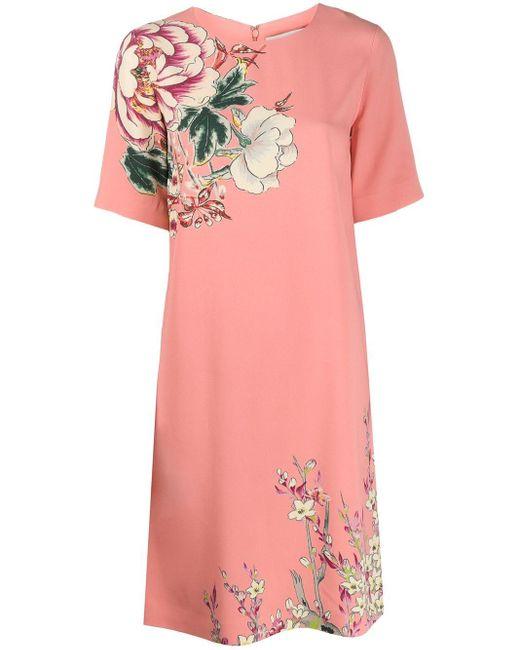 Etro フローラル シフトドレス Pink