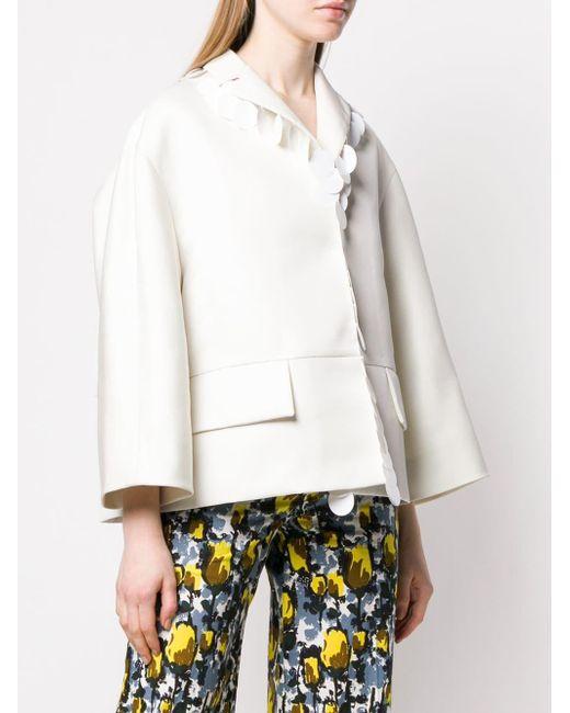 Veste pailletée Marni en coloris White