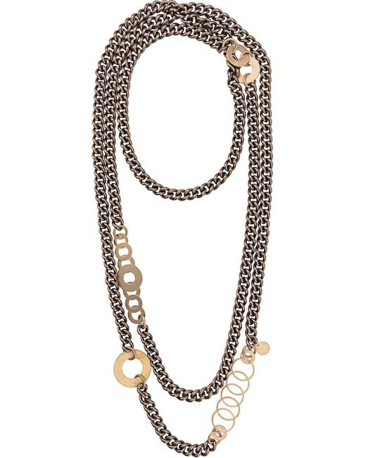 Silvia Gnecchi Metallic Tessa Multiple Chain Necklace