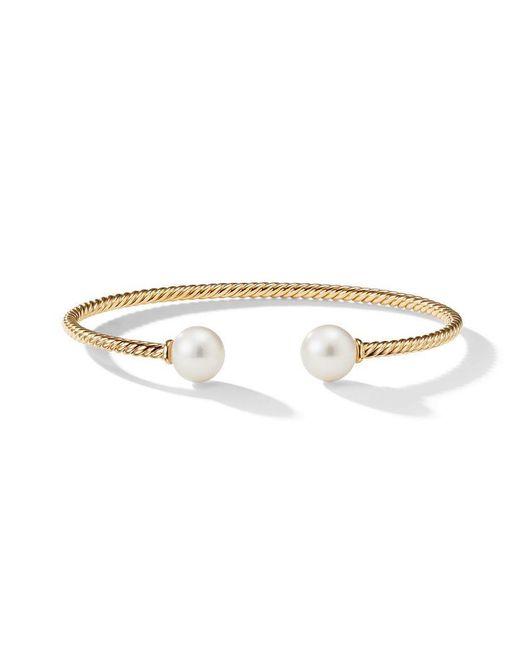 David Yurman - Metallic 18kt Yellow Gold Solari Pearl And Diamond Cuff Bracelet - Lyst