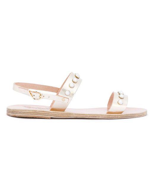 Ancient Greek Sandals   Metallic Clio Sandals   Lyst