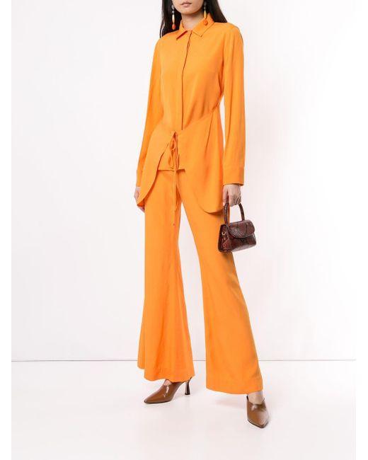 Rosetta Getty エプロン ラップシャツ Orange