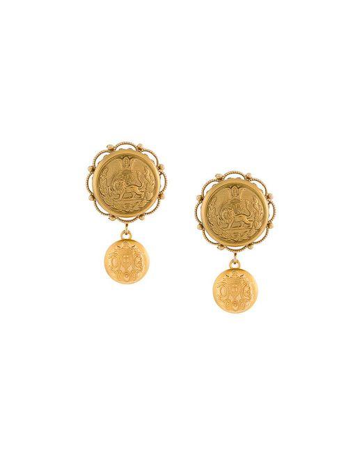 Dolce & Gabbana | Metallic Galvanized Earrings | Lyst