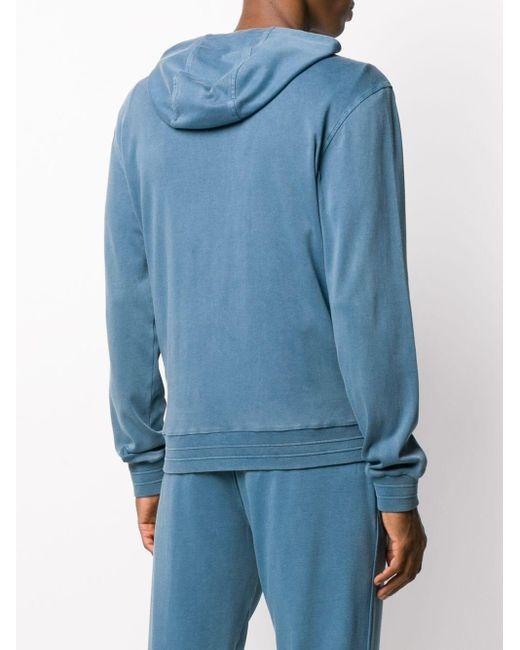 メンズ Z Zegna フーデッド ジップジャケット Blue