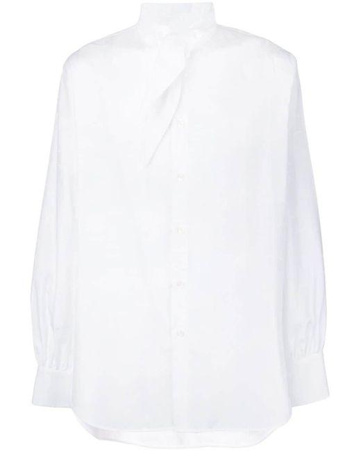 メンズ Vivienne Westwood タイネック シャツ White