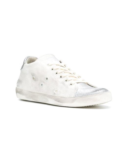 contrast low-top sneakers - White Leather Crown dnyhAOJ