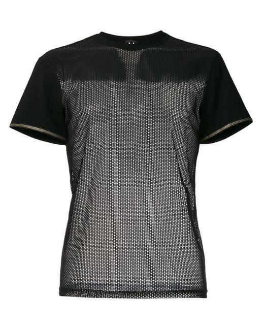 メンズ Versace メッシュパネル Tシャツ Black
