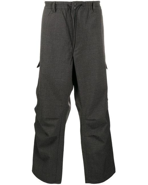 メンズ Y-3 ユーティリティポケット パンツ Gray