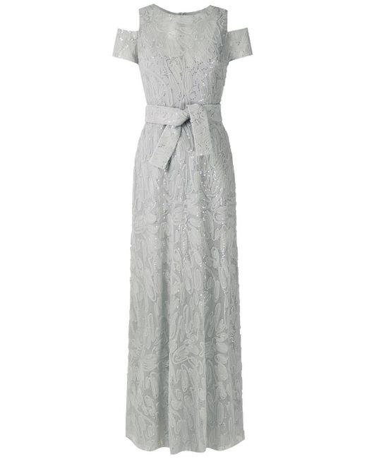 Вечернее Платье Макси Gloria Coelho, цвет: Gray
