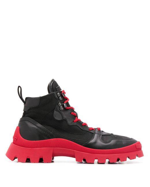 DSquared² Stiefel mit Kontrastsohle in Black für Herren