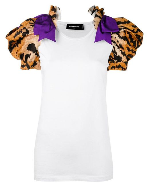 DSquared² | White Tiger Print T-shirt | Lyst