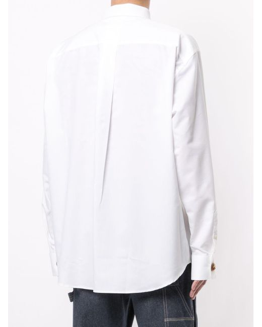 メンズ Doublet ポケット ロングスリーブシャツ White