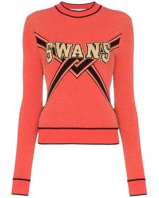 Off-White c/o Virgil Abloh Swans セーター Red