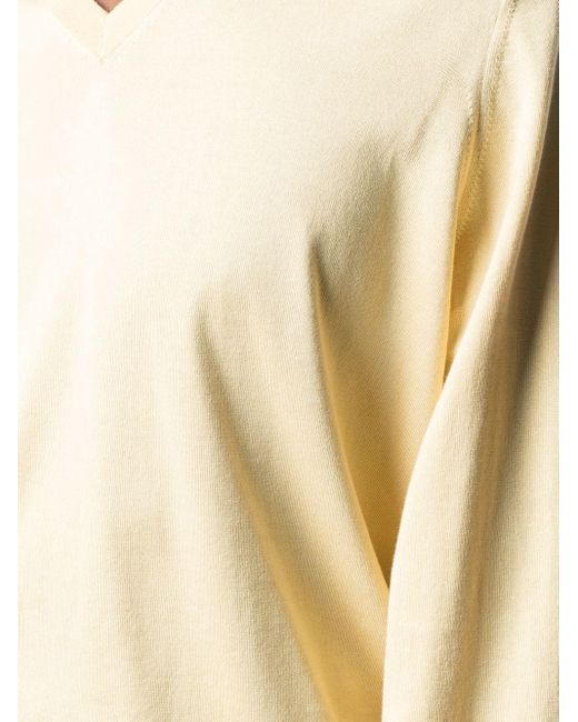 メンズ Brunello Cucinelli Vネック セーター Yellow