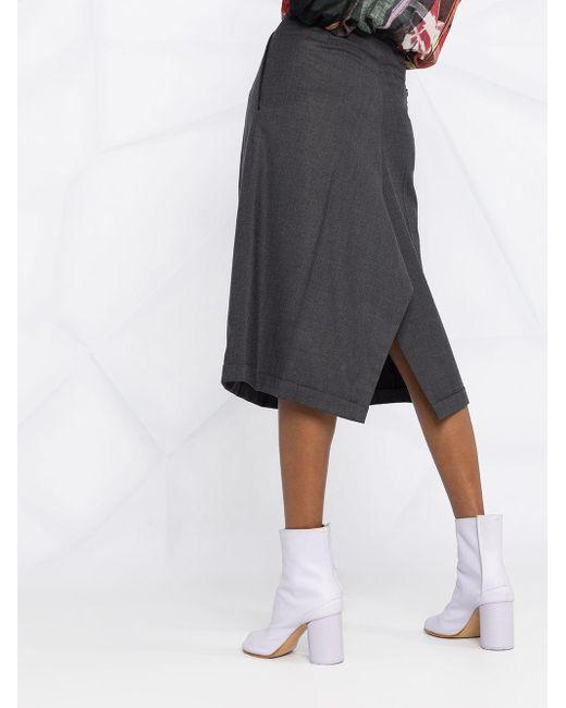 Юбка Миди С Завышенной Талией Maison Margiela, цвет: Gray