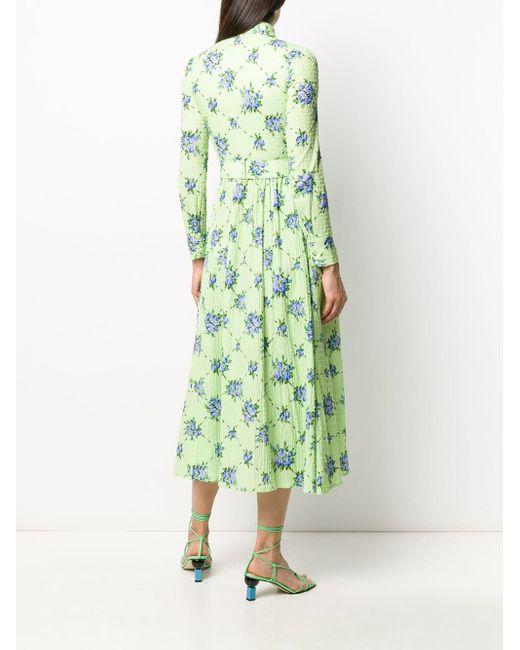 Emilia Wickstead Vestido シャツドレス Green