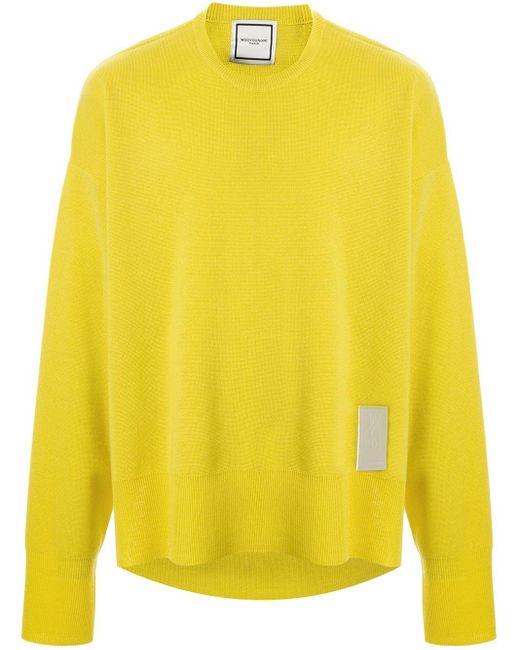 メンズ Wooyoungmi ロゴパッチ セーター Yellow