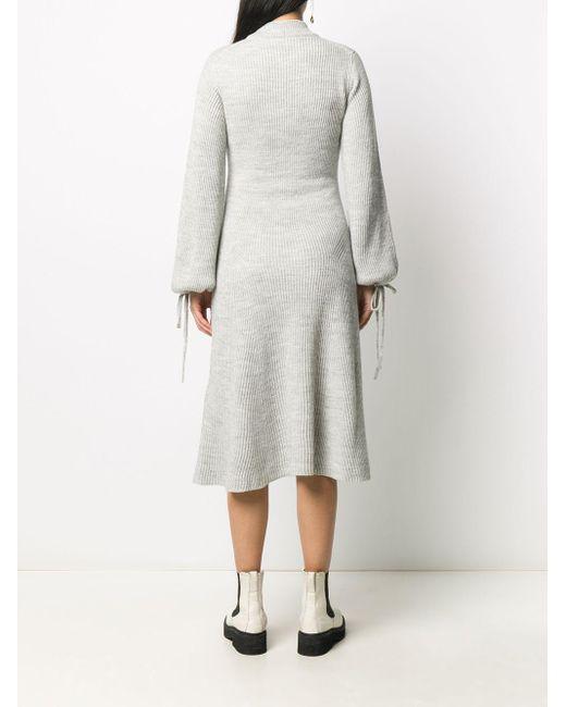 Платье-джемпер В Рубчик MSGM, цвет: Gray