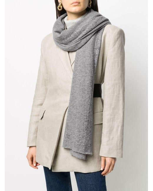 Faliero Sarti ビーズ スカーフ Gray