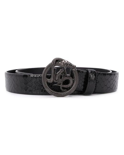 Just Cavalli ロゴ ベルト Black