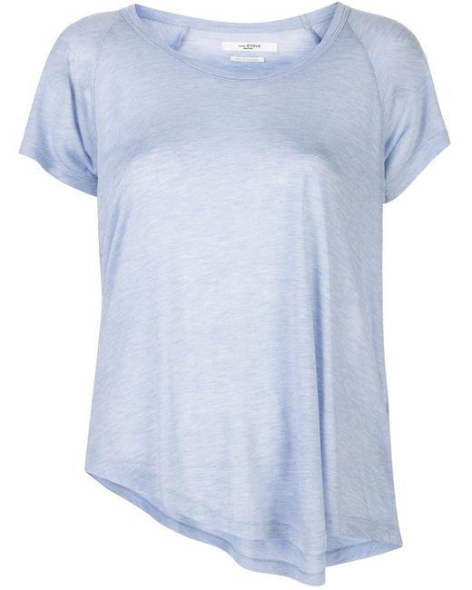 Étoile Isabel Marant アシンメトリーヘム Tシャツ Blue