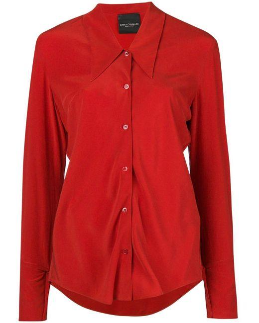 Erika Cavallini Semi Couture シルクシャツ Red
