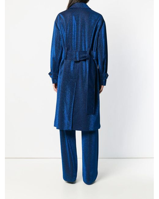 Marco De Vincenzo メタリック シングルコート Blue