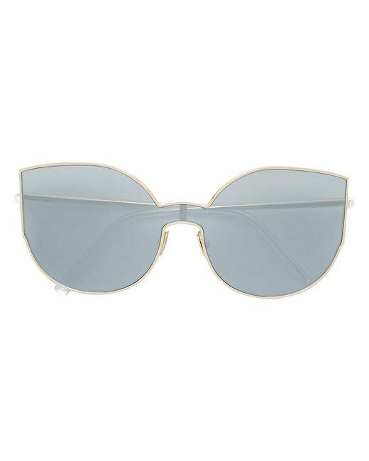 Retrosuperfuture - Metallic Oversized Sunglasses - Lyst