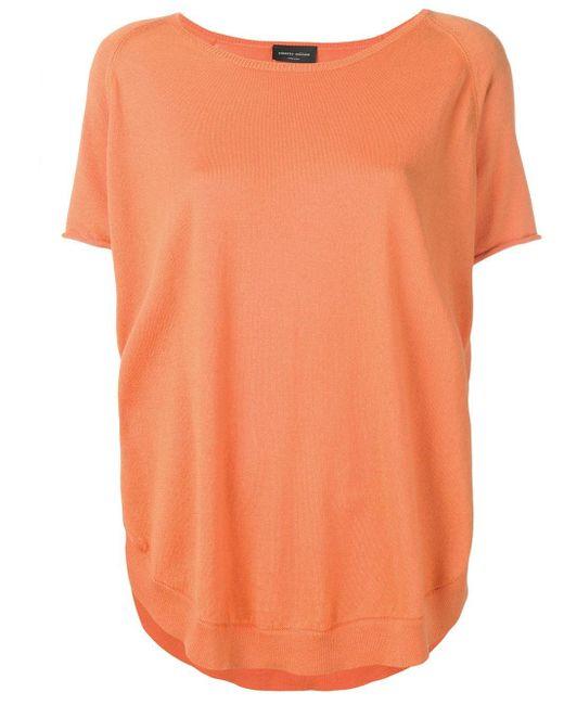Roberto Collina ラウンドネック Tシャツ Orange