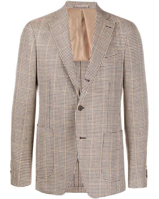 メンズ Lardini ハウンドトゥース シングルジャケット Multicolor