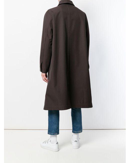 メンズ AMI オーバーサイズ コート Brown