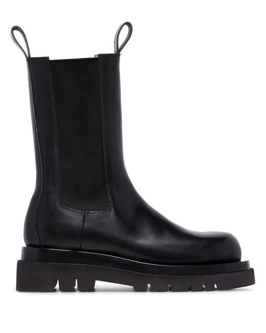 Bottega Veneta Chelsea Laarzen in het Black