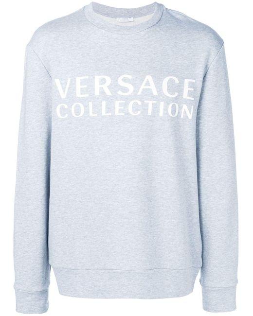 メンズ Versace ロゴ スウェットシャツ Multicolor