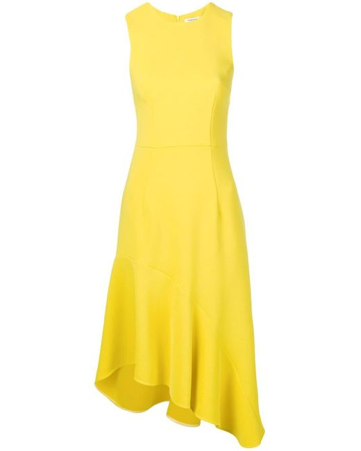 P.A.R.O.S.H. ノースリーブ アシンメトリー ドレス Yellow