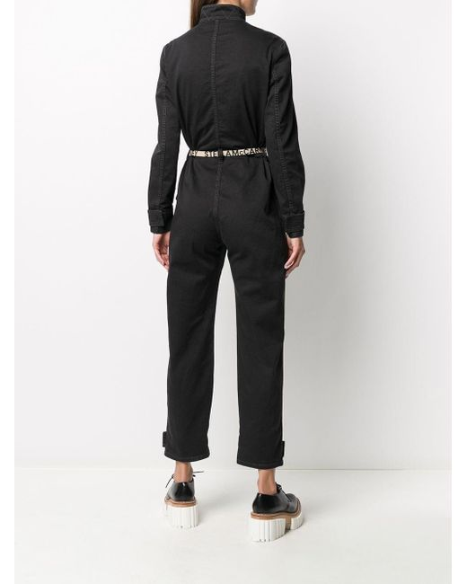 Tuta intera denim con logo di Stella McCartney in Black