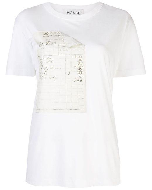 Monse Receipt プリント Tシャツ White