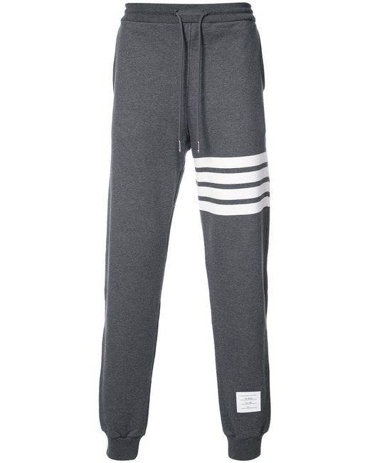 Thom Browne - Gray Sweatpant With Engineered 4-bar Stripe for Men - Lyst