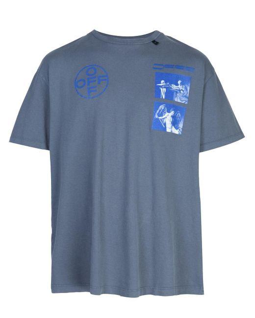 メンズ Off-White c/o Virgil Abloh Hardcore Caravaggio Tシャツ Blue