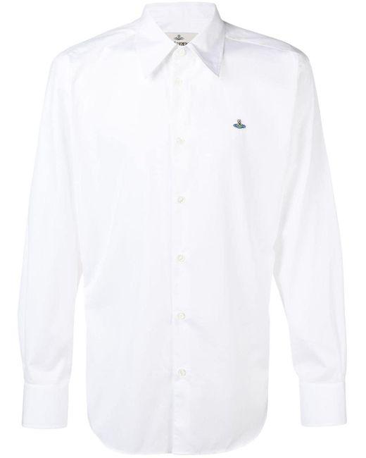 メンズ Vivienne Westwood ロゴ シャツ White