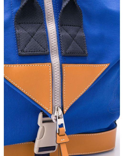 メンズ Loewe カラーブロック バックパック Blue
